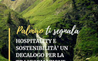 HOSPITALITY E SOSTENIBILITÀ UN DECALOGO PER LA TRASFORMAZIONE